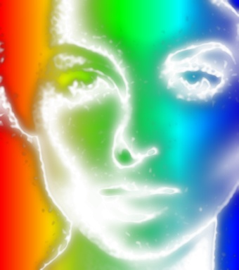 Rainbow Neon Photo Effect 1