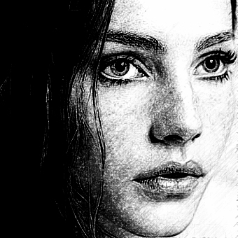 Realistic pencil sketch photo effect