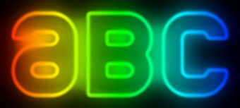 Rainbow Neon Text Effect 1