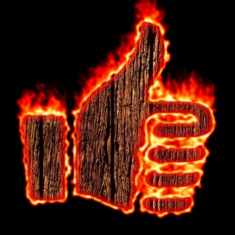 Burning Wood Logo Effect 7