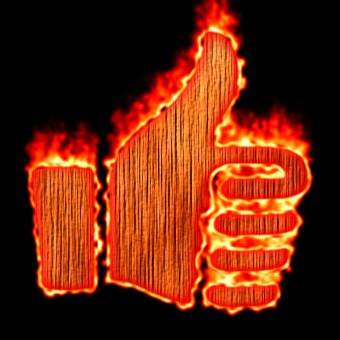 Burning Wood Logo Effect 10
