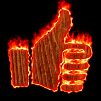 Burning Wood Logo Effect 15