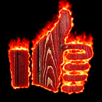 Burning Wood Logo Effect 16