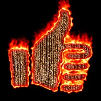 Burning Wood Logo Effect 34