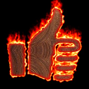 Burning Wood Logo Effect 41