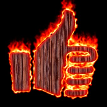 Burning Wood Logo Effect 43