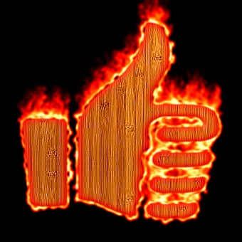 Burning Wood Logo Effect 44