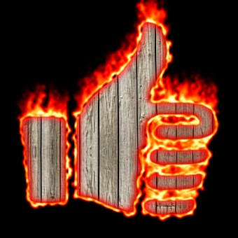 Burning Wood Logo Effect 48