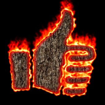 Burning Wood Logo Effect 53