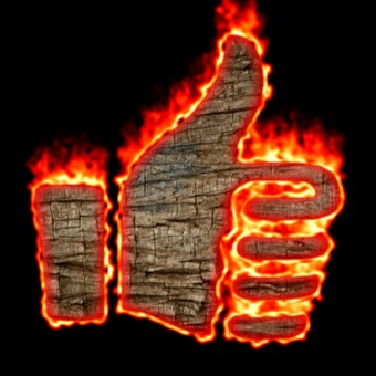 Burning Wood Logo Effect 54