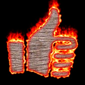 Burning Wood Logo Effect 60