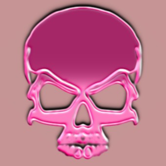 metalic pink logo effect