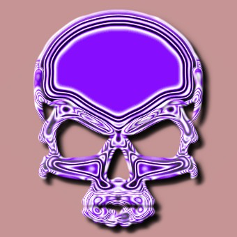 metalic purple logo effect