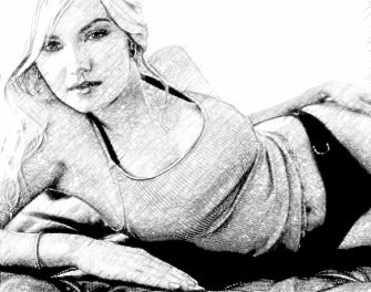 Realistic Pencil Sketch Photo Effect 1