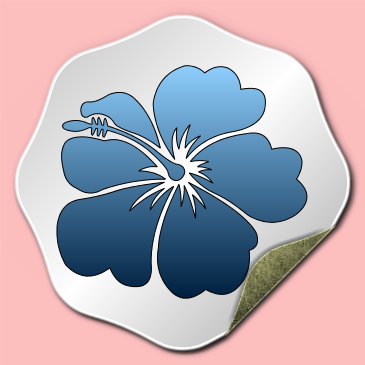 Flower Sticker and Label Effect
