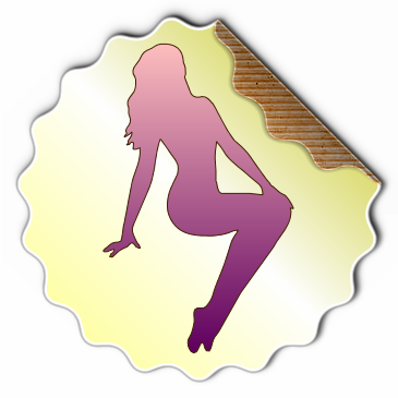Transparent Female Sticker Effect