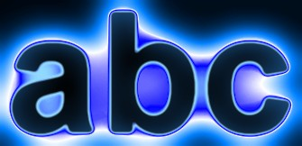 Blue Light and Glow Text Effect 11
