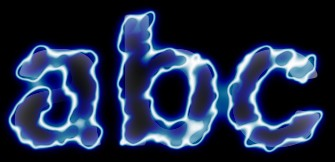 Blue Light and Glow Text Effect 17