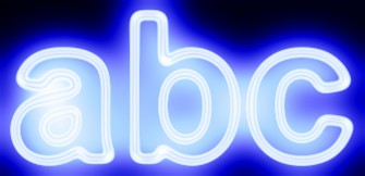 Blue Light and Glow Text Effect 18