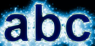 Blue Light and Glow Text Effect 1