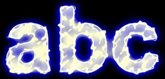 Blue Light and Glow Text Effect 2