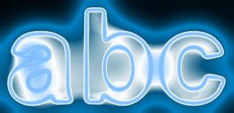 Blue Light and Glow Text Effect 6