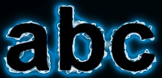 Blue Light and Glow Text Effect 7