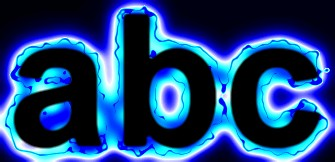Blue Light and Glow Text Effect 9
