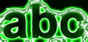 Green Light and Glow Text Effect 14
