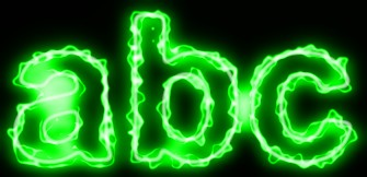 Green Light and Glow Text Effect 1