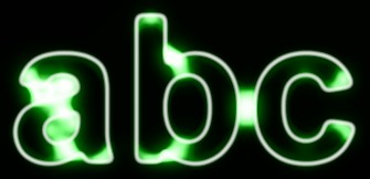 Green Light and Glow Text Effect 20