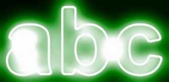 Green Light and Glow Text Effect 3