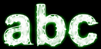 Green Light and Glow Text Effect 5