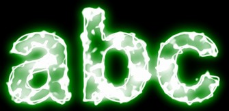 Green Light and Glow Text Effect 6