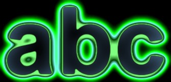 Green Light and Glow Text Effect 8