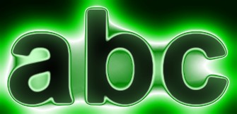 Green Light and Glow Text Effect 9