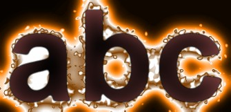 Orange Light and Glow Text Effect 10