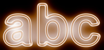 Orange Light and Glow Text Effect 13