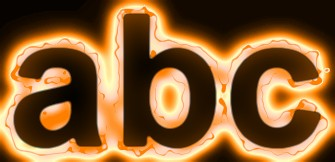 Orange Light and Glow Text Effect 16