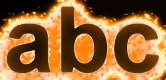 Orange Light and Glow Text Effect 18