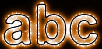 Orange Light and Glow Text Effect 1