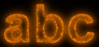 Orange Light and Glow Text Effect 20