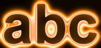 Orange Light and Glow Text Effect 7