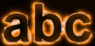 Orange Light and Glow Text Effect 8