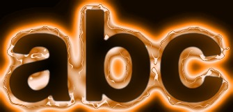 Orange Light and Glow Text Effect 9
