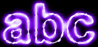 Purple Light and Glow Text Effect 11
