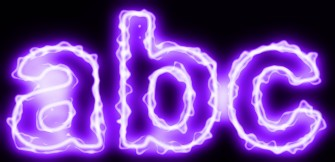 Purple Light and Glow Text Effect 13