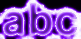 Purple Light and Glow Text Effect 15