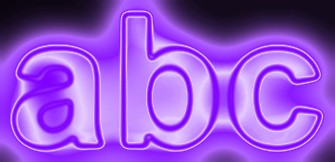 Purple Light and Glow Text Effect 3