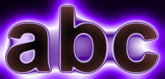 Purple Light and Glow Text Effect 4